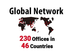 [Global Network] 45 Countries, 200 Offices, 250,000 Clients