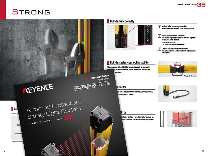 GL-R Series Safety Light Curtain Catalogue (English)