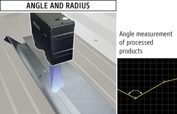 ANGLE AND RADIUS - Angle measurement of processed products