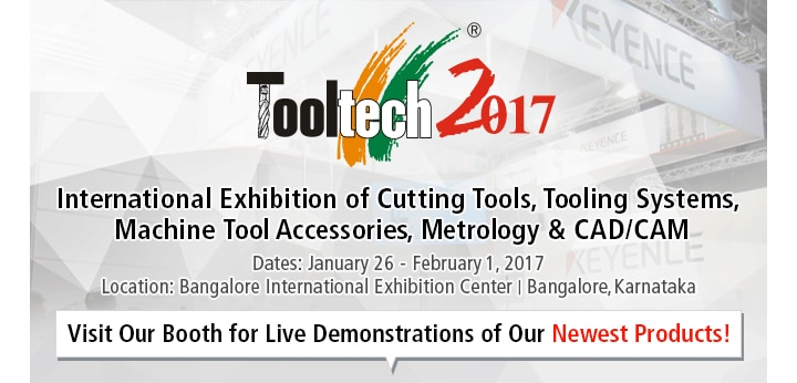 Tooltech 2017 International Exhibition of Cutting Tools, Tooling Systems, Machine Tool Accessories, Metrology & CAD/CAM. Dates: January 26 - February 1, 2017 Location: Bangalore International Exhibition Center | Bangalore,Karnataka / Visit Our Booth for Live Demonstrations of Our Newest Products!