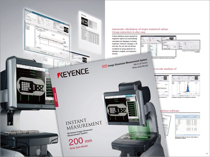 IM Series Image Dimension Measuring System Wide field of view type Catalogue (English)